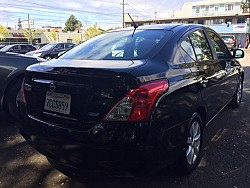 Key #17 Nissan Versa SL Sedan 4D
